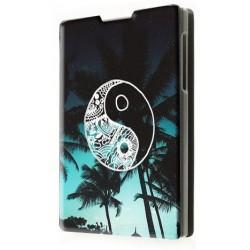 Etui housse portefeuille avec photo pour Blackberry Passport
