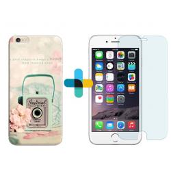 Pack protection : coque personnalisée iPhone 6s + verre trempé
