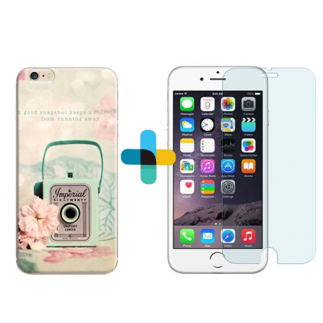 Pack protection coque personnalis e iphone 6s verre tremp for Verre trempe iphone 6s