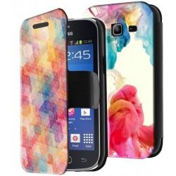 Etui housse portefeuille avec photo Samsung Galaxy Trend 2 Lite