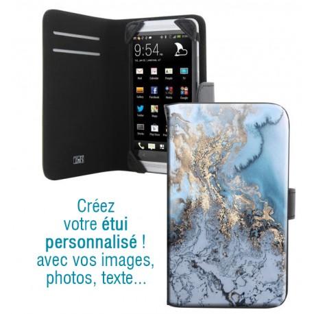 Housse portefeuille avec photo pour iPhone 4S