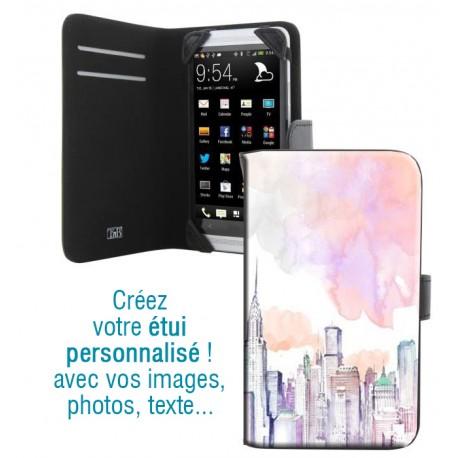 Housse portefeuille avec photo pour Samsung Galaxy Grand Plus