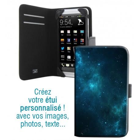 Housse portefeuille avec photo pour Samsung Galaxy E7