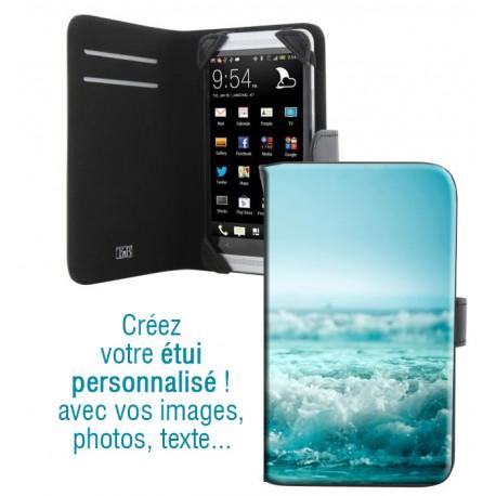 Housse portefeuille avec photo pour Samsung Galaxy Alpha