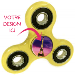 Spinner hand personnalisable 3 branches jaune