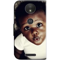 Housse portefeuille Motorola Moto C Plus personnalisable