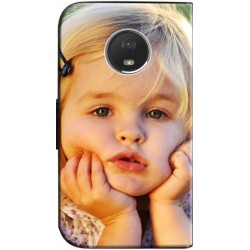 Housse portefeuille Motorola Moto E4 personnalisable