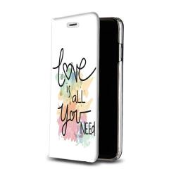 Housse portefeuille iPhone 8 Plus personnalisable Blanc