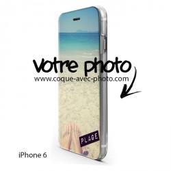 Etui housse portefeuille avec photo pour iPhone 6