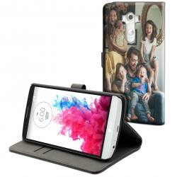Etui housse portefeuille avec photo pour LG G3