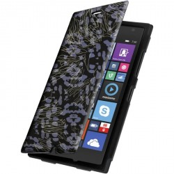 Etui housse portefeuille avec photo pour Microsoft Lumia 730/735
