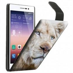 Etui housse portefeuille avec photo pour Huawei P7
