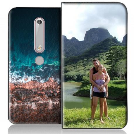Housse portefeuille Nokia 6 2018 personnalisable