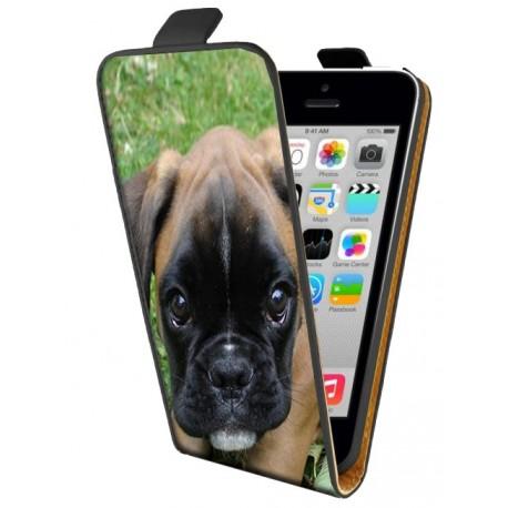 Housse verticale avec photo pour iPhone 5C