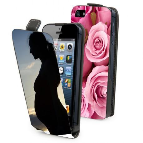 Housse verticale avec photo pour iPhone 5S
