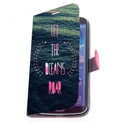 Housse portefeuille avec photo pour Samsung Galaxy Mega 2