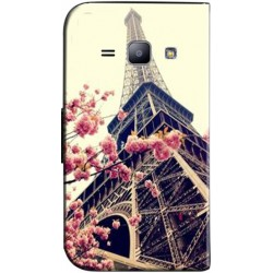 Etui housse portefeuille avec photo Samsung Galaxy J2
