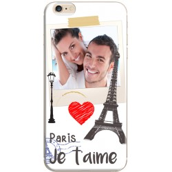 Coque à personnaliser iPhone 6 / iPhone 6S Photomontage Paris Je t'aime