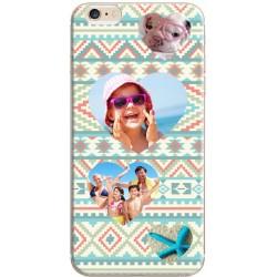 Coque personnalisable iPhone 6 / iPhone 6S Décor Aztèque Coeurs