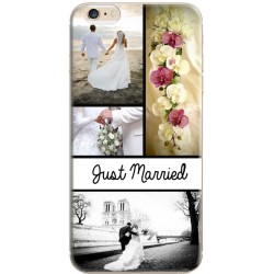 Coque avec photo iPhone 6 / iPhone 6S Photo montage Just Married