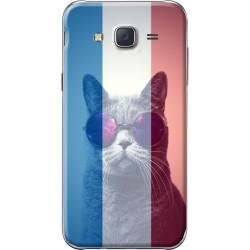 Coque avec photo montage drapeau français pour Samsung Galaxy J5