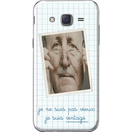 """Coque avec photo Samsung Galaxy J5 """"Je ne suis pas vieux, je suis vintage"""""""
