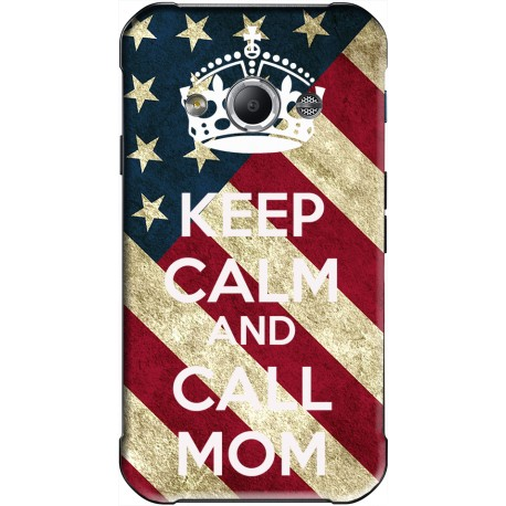 Coque avec photo Keep Calm and Call Mom Samsung Galaxy Xcover personnalisable