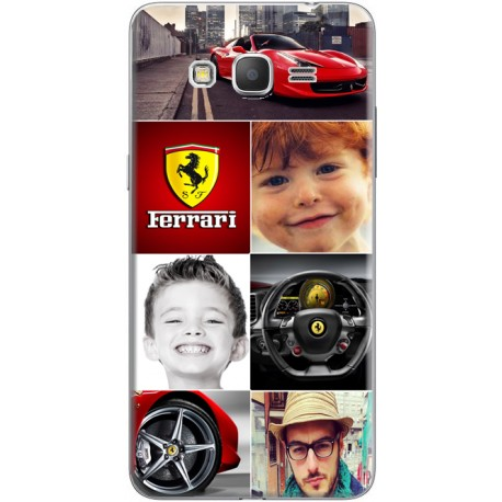 Coque avec photomontage mosaique Ferrari Samsung Galaxy Core Prime