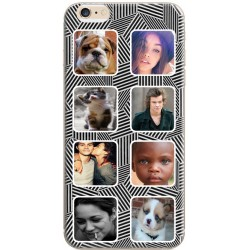 Coque avec photo iPhone 6/6S Fond Cubik Two