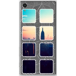 Coque avec photo Sony Xperia Z5 Fond Cubik Two