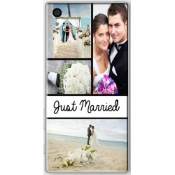 Coque avec photo Sony Xperia Z5 Photo montage Just Married