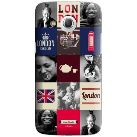 Coque avec photomontage mosaique Londres Samsung Galaxy Core 4G
